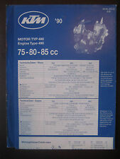 KTM 1990 Part Number Diagram Poster Engine Type 490 75 80 85 cc Motorcycl Manual