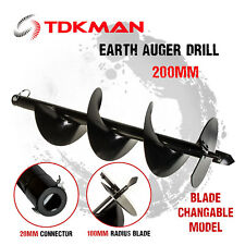 200mm Auger Bit Drill for Petrol Post Hole Digger, Earth Auger, Standard 20mm