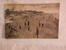Vecchia foto cartolina d epoca di Mercatello bagni spiaggia mare cabine lido per