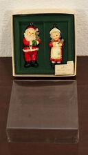 1975 Santa & Mrs. Hallmark Christmas Claus Ornaments Mib