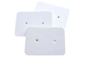 Jewellery Display Cards - White Earring Mini Cards For Studs Small Dangles