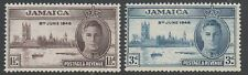 Jamaica 1946 Victory perf 13.5 x 14 SG141-142 unmounted mint set stamps cat £8