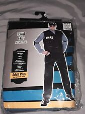 Halloween Costume Swat Cop Size Adult Plus New