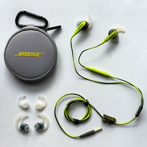 Bose SoundSport Wired In Ear Headphones Energy Green for Apple iOS 741776-0030