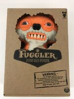 "RARE Fuggler Suspicious Fox Orange and White 9"" Stuffed Animal Plush with Teeth"