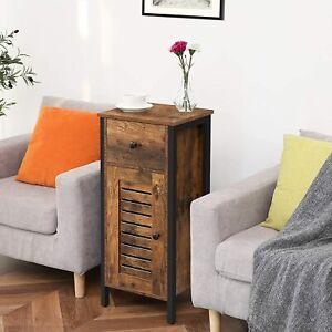 Industrial Cabinet Table Rustic Drawer Cupboard Vintage Metal Side Sofa End Unit