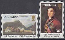 St. Helena 1980 ** Mi.331/32 Herzog von Wellington Gemälde Painting Goya[sq5990]