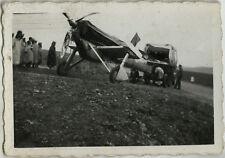 PHOTO ANCIENNE - VINTAGE SNAPSHOT - AVION ACCIDENT MAGHREB - PLANE CRASH