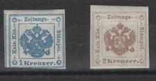 AUSTRIA, STAMPS, 1877, Mi. 5-6 W II **.