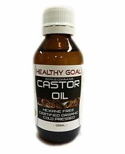 Certified Organic CASTOR OIL 100ml ~ Cold Pressed Premium Grade Pure Hexane Free