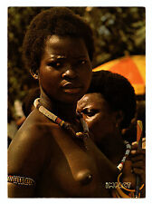 Belgian Congo Real Full Color Picture P/C Topless Woman of the Wagenia Tribe