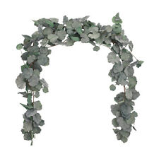 2pcs Artificial Begonia Leaves Garland Greenery Crown Wreath Wedding Party Decor