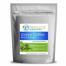 30 Day Supply of Green Coffee Bean Extract Capsules Weight Loss Slimming Pills