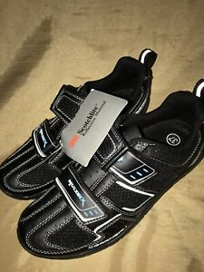 Garneau  Cycling Shoes WOMENS & Girls size 37  hook & loop black blue