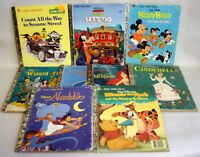 Lot of 9 Classic Walt Disney Stories Books Vintage Little Golden Books 80s 90s