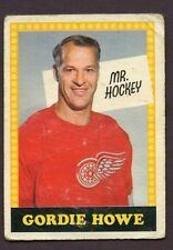 1969-70 OPC O PEE CHEE # 193 Gordie Howe NO NUMBER ERROR
