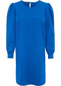 Oversized Kleid Gr. 44 46 blau Minikleid Businesskleid lange Puffärmel neu