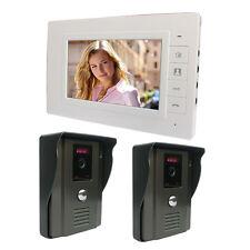 "New 7"" Color Hands-free Video Phone Doorbell Intercom Kit IR Night vision Camera"