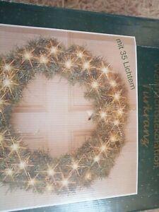 Türkranz mit 35 Lichtern /Weihnachtskranz