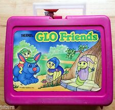 1986 HASBRO GLO FRIENDS LUNCHBOX by THERMOS, LUNCHBOX ONLY, NO THERMOS, VINTAGE