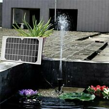 Solar Panel Power Water Fountain Garden Pond 280L/H Pump With Filtering Sponge