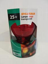 Sylvania 11712 - 25A19/TR/RP 125V Standard Transparent Colored Light Bulb, Red