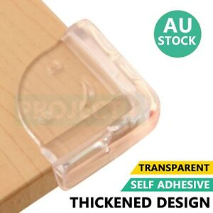 Desk Edge Soft Table Corner Protectors Cushion Baby Child Safety Guard Clear Au