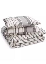 RALPH LAUREN Devon Charcoal Grey Stripe/Floral FULL/QUEEN Duvet Cover & Shams