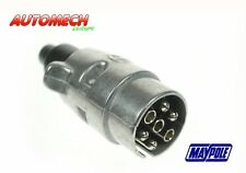 Quality Maypole 12N, Alloy 7 Pin Plug, Brass Pins, waterproof End Seal (24)