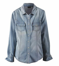 esmara Damen Jeansbluse Jeans Hemd Jeanshemd Bluse 3 Varianten