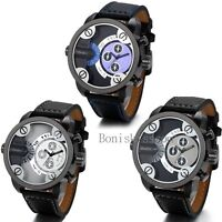 Men's Luxury Sport Watches Men Army Military Leather Band Quartz Wrist Watch