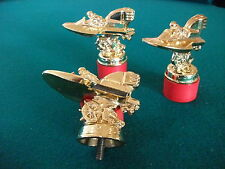 Vintage Antique Hydroplane Racer Trophy Figurine Outboard Boat Set of Three NOS