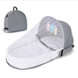 Foldable Crib Baby Infant Mosquito Nets Tent Mattress Bed Cover Travel AU Stock