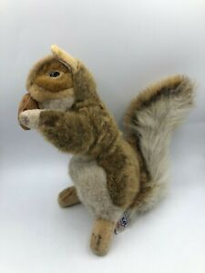Official Hansa Creation Squirrel Realistic Plush Stuffed Toy Animal Poseable