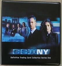 CSI New York Series 1 Trading Card Binder from Strictly Ink - New