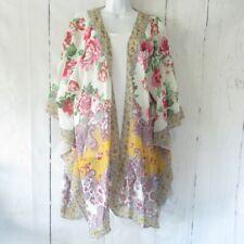 New Umgee Kimono Cardigan 1X 2X Floral Scarf Paisley Plus Size Cottagecore Boho