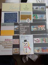 1981 Commemorative Presentation Packs Complete (8 Packs Nos 124-130) Under Face