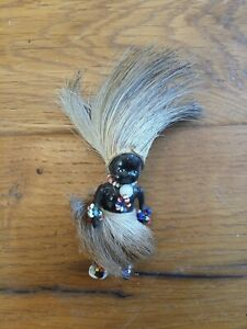 Vintage ~Articulated ~Black ~Doll ~ cellanod  African? ~ tiny 11 cm Tall .