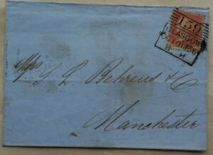 GREAT BRITAIN 1856 PENNY RED COVER WITH GLASGOW MADELEINE SMITH DUPLEX