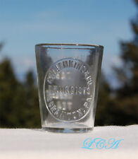 Original antique G.W. JENKINS druggists embossed Medicine Dose Glass SCRANTON PA