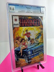 HARBINGER #1 1st Appearance   Valiant 1992   CGC 9.6 w/ Coupon