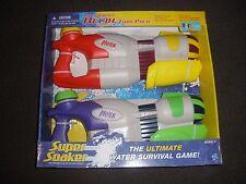 Brand New 2009 NERF Style SUPER Soaker HELIX Water Pistol BLASTER 2 Pack RARE