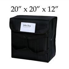"""20"""" x 20"""" x 12"""" Black Nylon Insulated Best Pizza Delivery Bag"""
