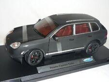 1:18 Welly  - Porsche Cayenne Turbo Matt Schwarz - Sondermodell