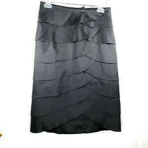 Cachet Women Size Small Black Layered Skirt Form fitting
