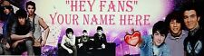 "FREE ""JONAS BROTHERS"" PRINT POSTER BANNER PERSONALIZED WITH YOUR NAME"