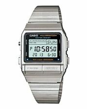 Casio Para Hombre Digital de datos de Bank Watch, Silver, db-380-1df
