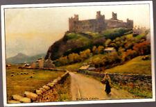 Postcard. Wales, Harlech Castle Print, stamped 1992