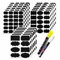 Chalkboard Labels, 173pcs Waterproof Reusable Blackboard Sticker Kit for Kitchen