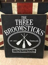 Handmade Wizard Restaurant Sign Free Shipping Inspired By The 3 Broomsticks